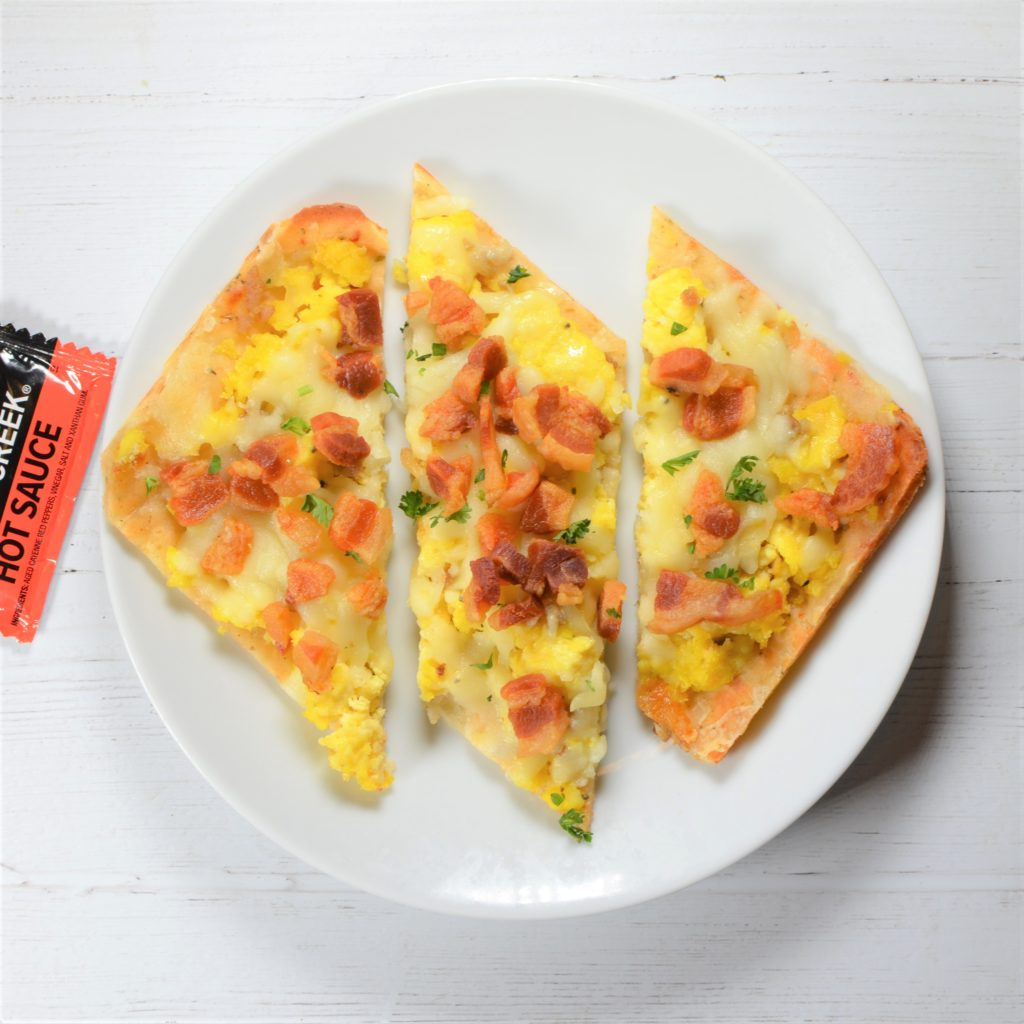Bacon, Egg & Cheddar Breakfast Pizza