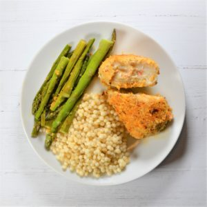 Stuffed Sole with Couscous & Roasted Asparagus