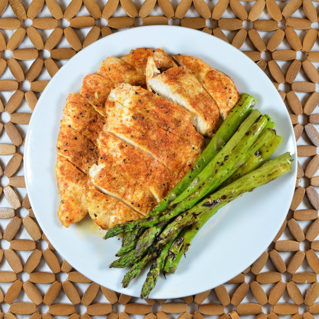 Cajun Chicken with Asparagus (Weight loss)