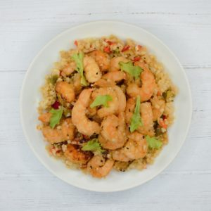 Shrimp with Cauliflower Fried Rice (Weight Loss)