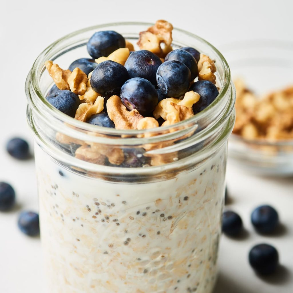 Blueberry & Walnut Overnight Oats (Double Serving)