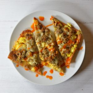 Sausage, Egg Cheddar Breakfast Pizza