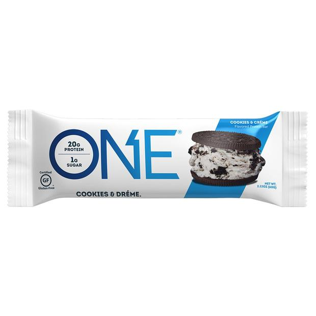 Cookies & Creme Protein Bar – ONE brand (single bar)