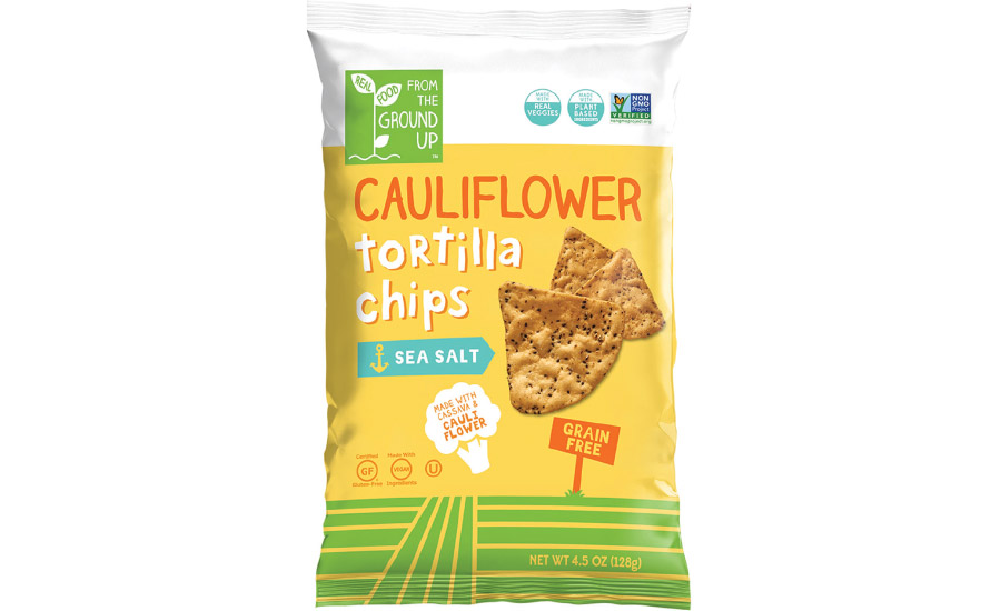 Sea Salt Cauliflower Tortilla Chips – From the Ground Up (large bag)