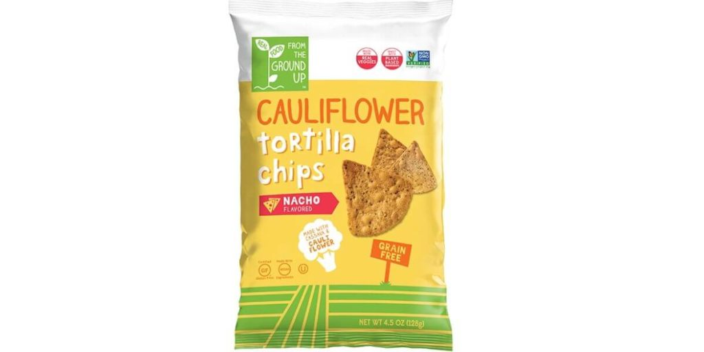 Nacho Cauliflower Tortilla Chips – From the Ground Up (large bag)