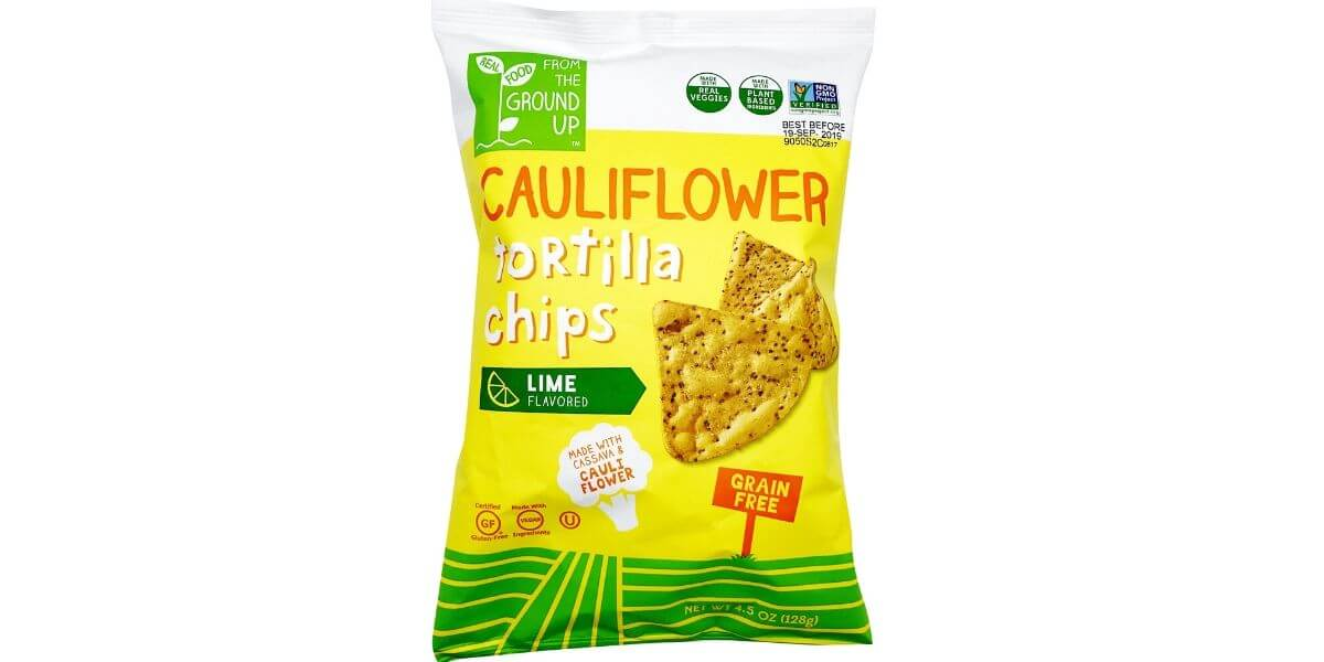 Lime Cauliflower Tortilla Chips – From the Ground Up (large bag)