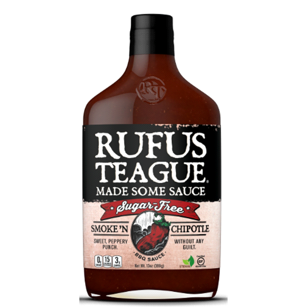 Smoke n' Chipotle Sugar-free BBQ Sauce – Rufus Teague (14 oz)