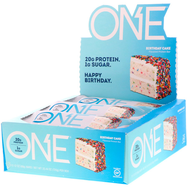 Birthday Cake Protein Bar – ONE brand (12 bars per box)
