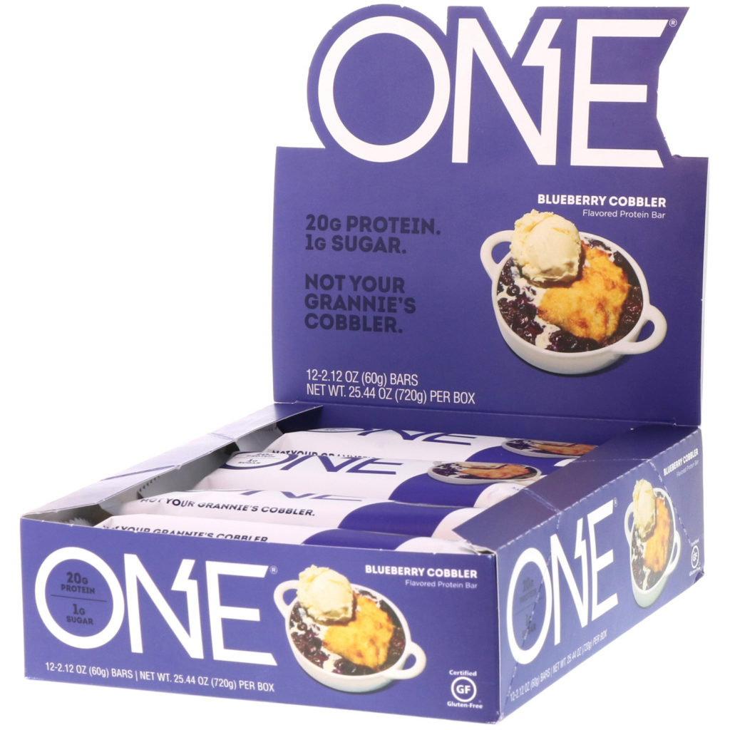 Blueberry Cobbler Protein Bar – ONE brand (12 bars per box)