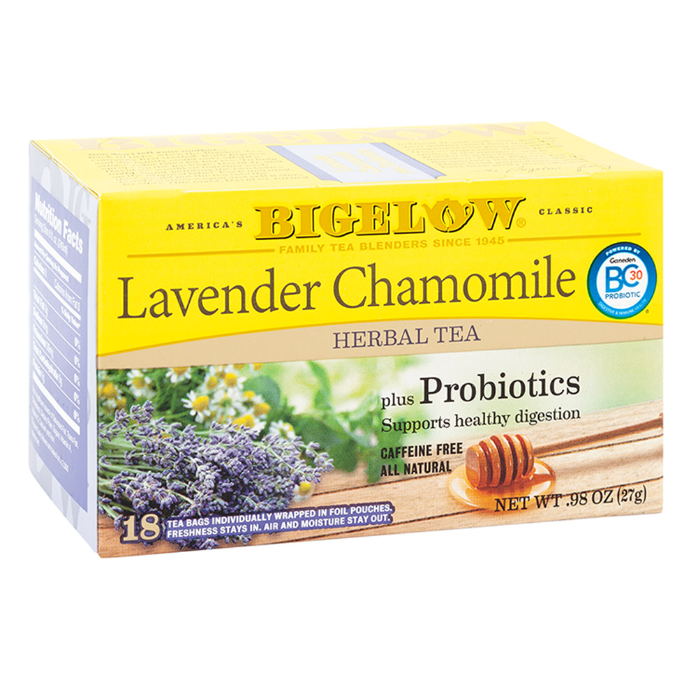 Lavender Chamomile Tea – Bigelow (1 box, 18 tea bags)