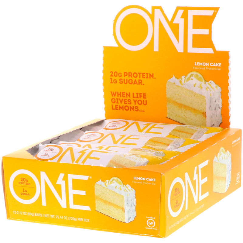 Lemon Cake Protein Bar – ONE brand (12 bars per box)