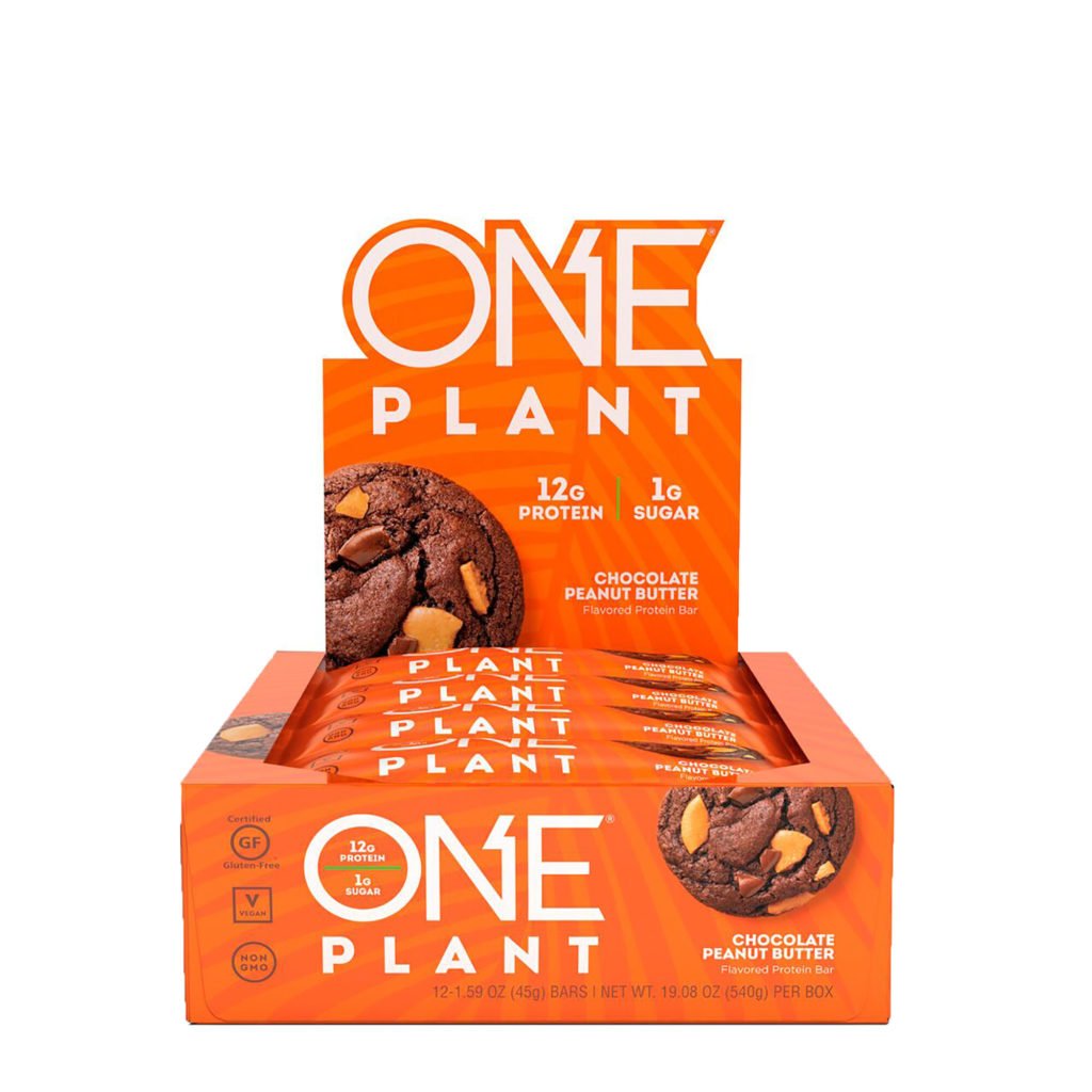 PLANT Chocolate Peanut Butter Protein Bar – ONE brand (12 bars per box)