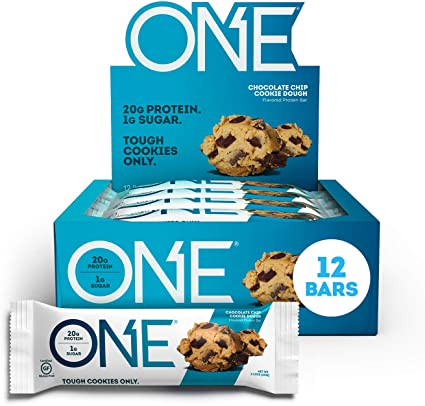 Chocolate Chip Cookie Dough Protein Bar – ONE brand (12 bars per box)