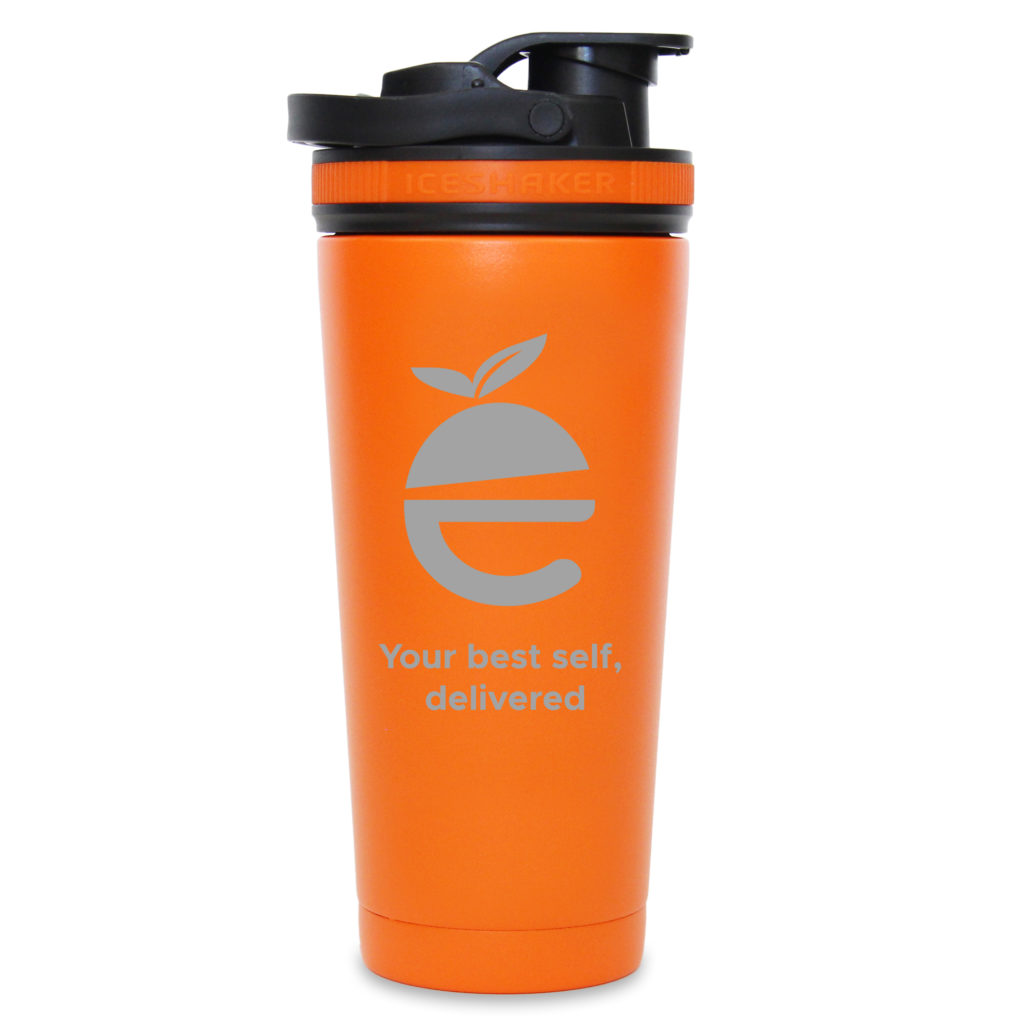 Nutre Ice Shaker Bottle (orange/black)