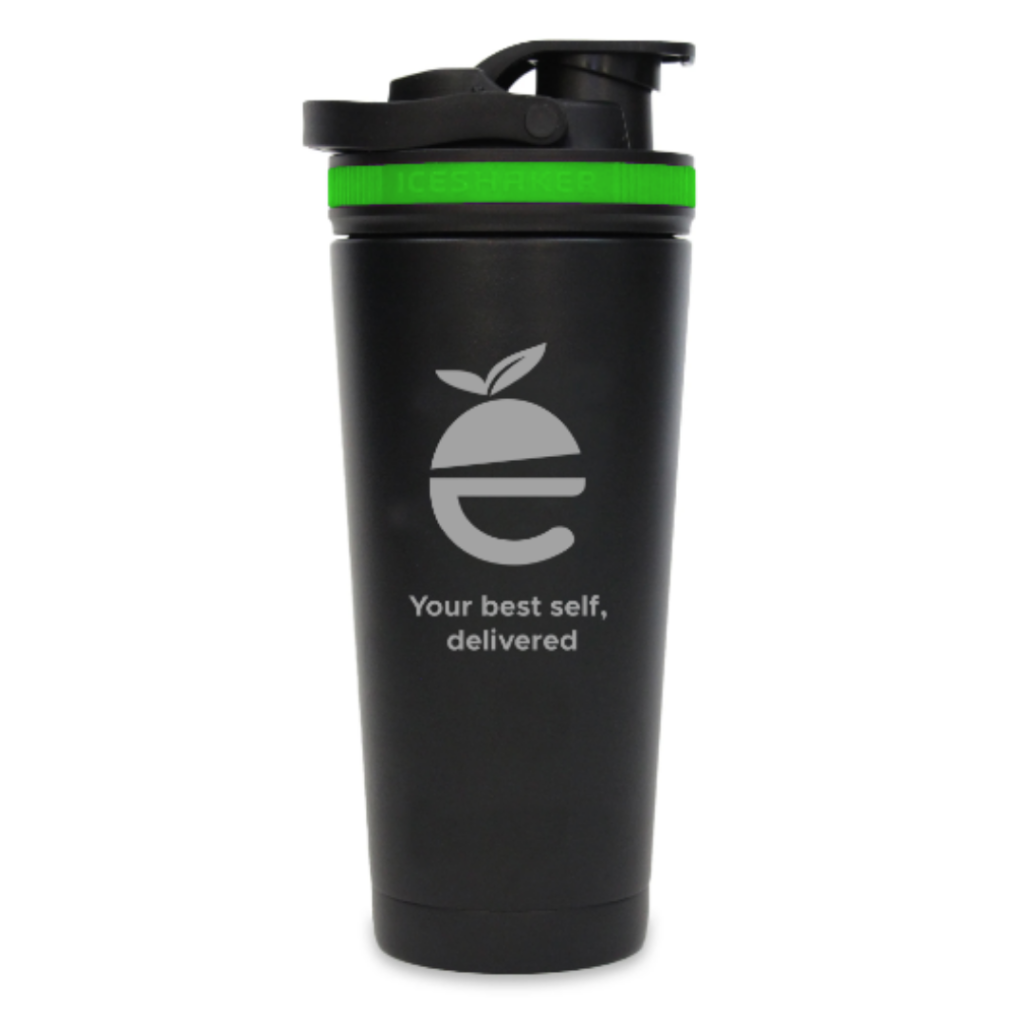 Nutre Ice Shaker Bottle (black/green)