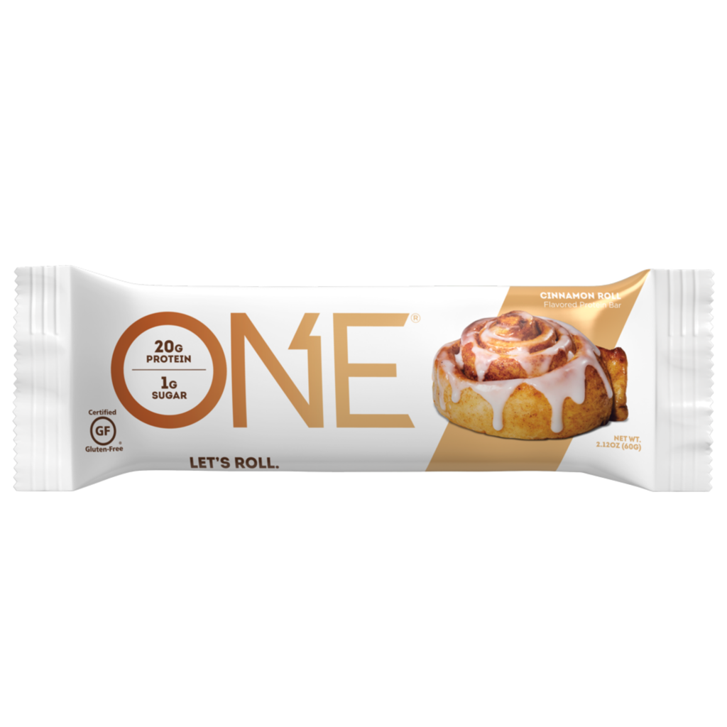 Cinnamon Roll Protein Bar – ONE brand (single bar)
