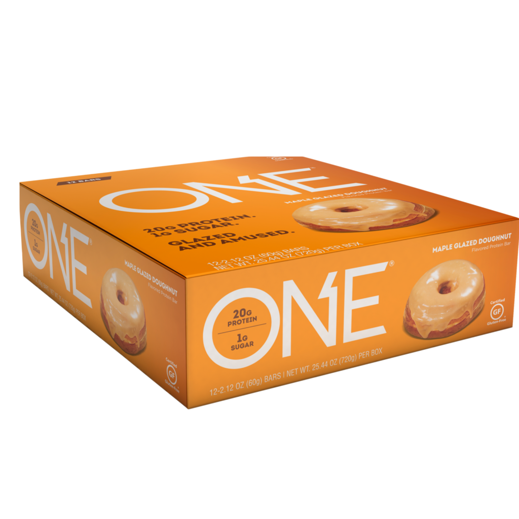 Maple Glazed Donut Protein Bars- ONE brand (12 bars per box)