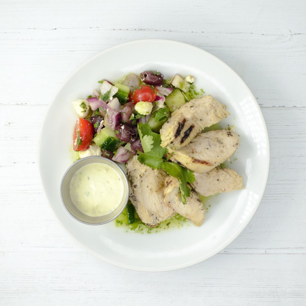 Greek Chicken with Cucumber Salad