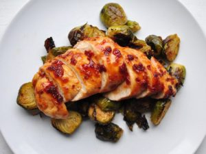 Turkey Dinner with Maple Glazed Sprouts